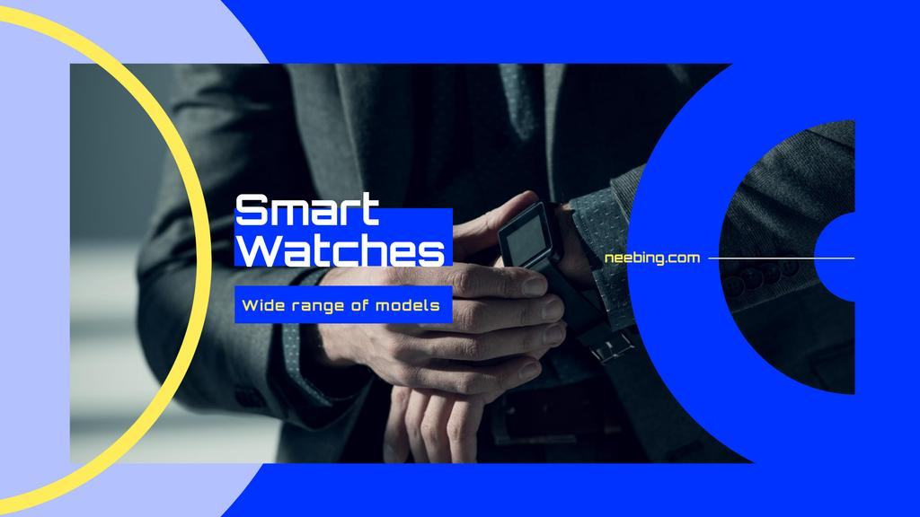 Man Wearing Smart Watch Youtube Design Template