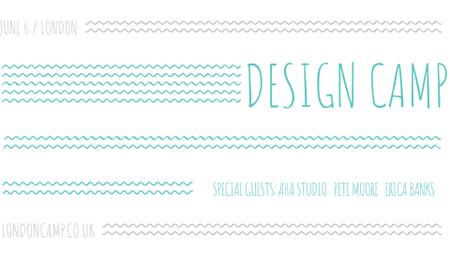 Plantilla de diseño de Design camp announcement on Blue waves FB event cover