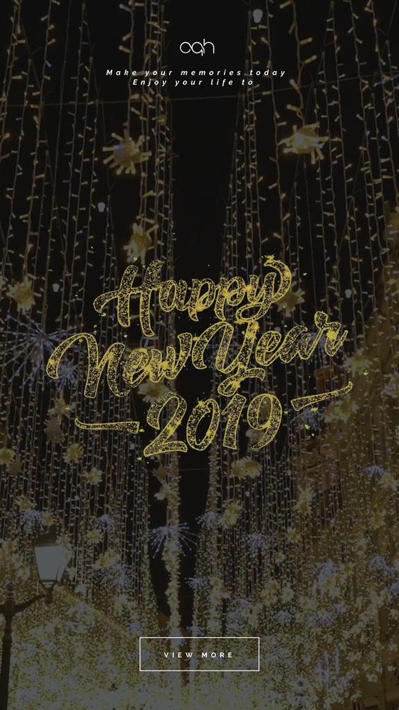 New Year Shining Glitter Garland — Crear un diseño