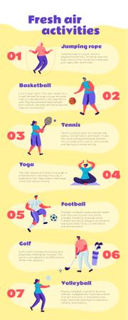 List infographics about Fresh air activities Infographic Modelo de Design