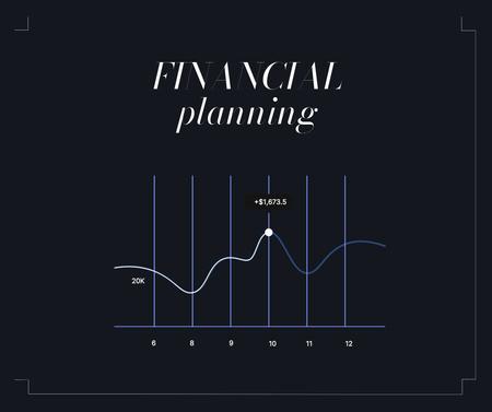 Designvorlage Chart for Financial Planning für Facebook