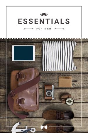 Essentials for men Announcement Pinterest Modelo de Design