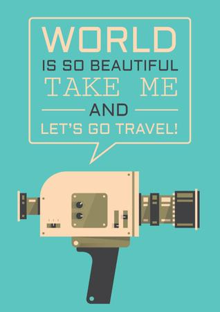 Modèle de visuel Motivational travel Quote - Poster