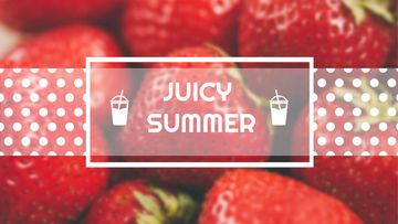 Summer Offer with Red Ripe Strawberries