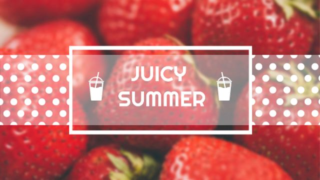 Template di design Summer Offer with Red Ripe Strawberries Title