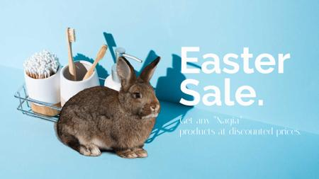 Plantilla de diseño de Bath accessories Sale with Easter Bunny Full HD video