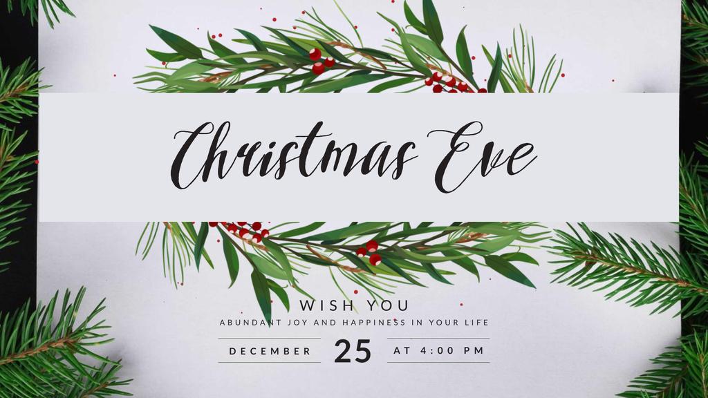 Christmas Greeting with Fir Tree — Modelo de projeto
