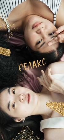 Young Girls resting Snapchat Moment Filter – шаблон для дизайна