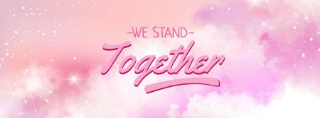 Girl Power Inspiration on Fairy Pink Sky Facebook cover Modelo de Design