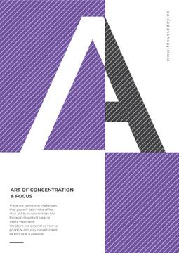 Art of Concentration on Purple and White