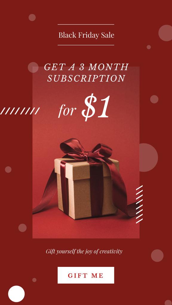 Black Friday Sale with Christmas gift box — Crear un diseño