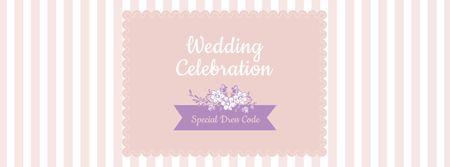 Wedding Celebration Announcement with White Flowers Facebook cover – шаблон для дизайну