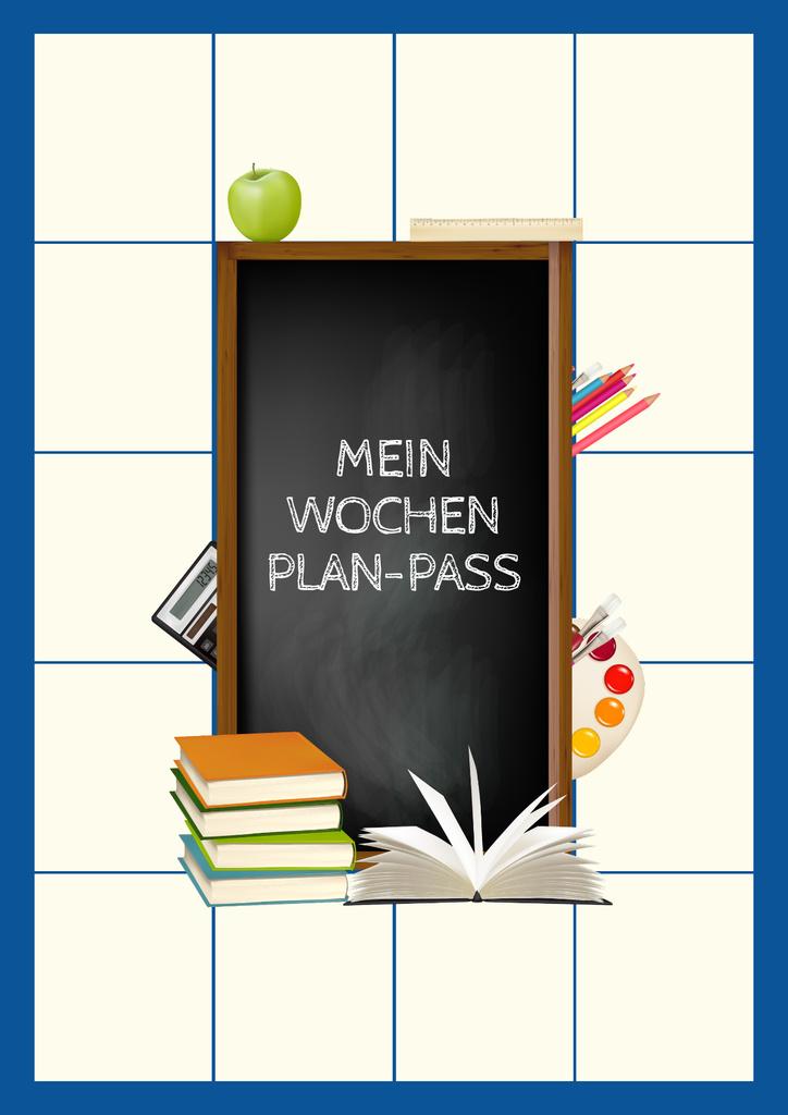School Week Plan with Stationery — Crear un diseño