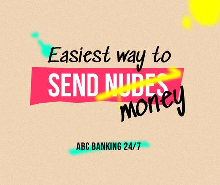 Joke for Banking Services offer Facebook Design Template