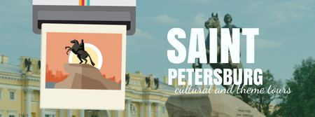 Saint Petersburg famous travelling spots Facebook Video cover Tasarım Şablonu