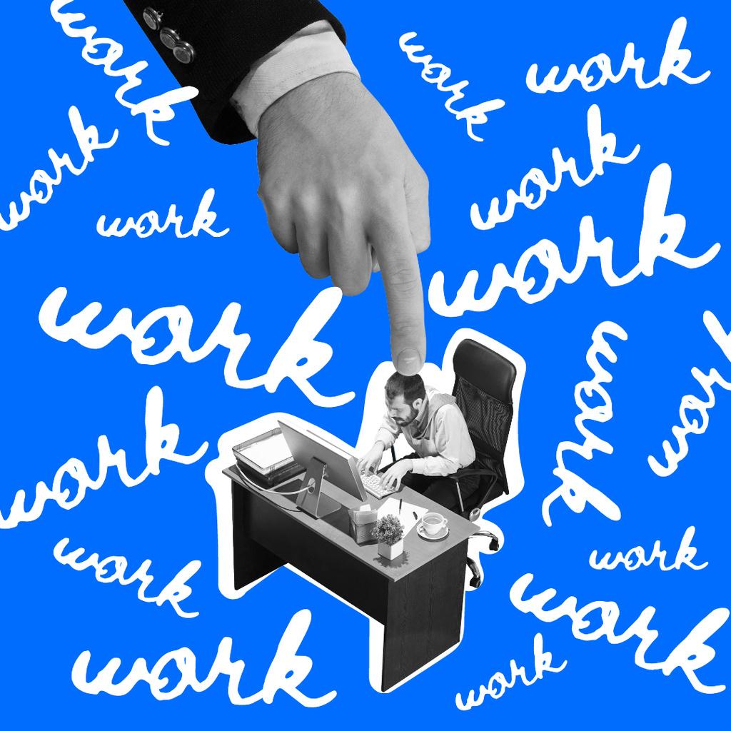 Funny Joke about Hard Working Instagram – шаблон для дизайну