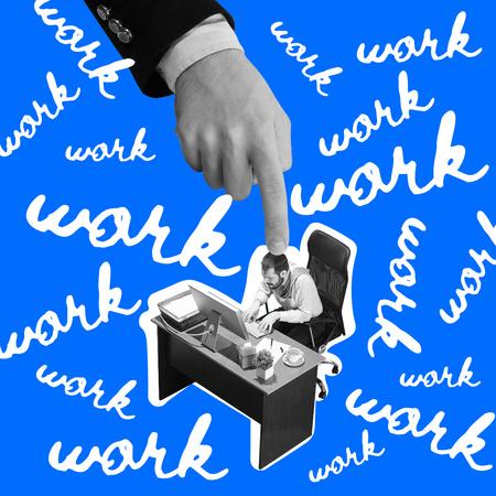 Ontwerpsjabloon van Instagram van Funny Joke about Hard Working