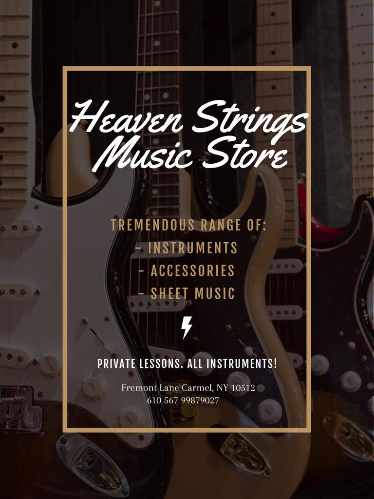 Guitars in Music Store — Crear un diseño