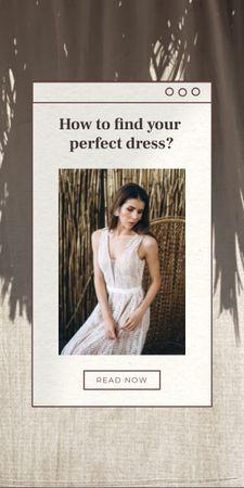Wedding Dresses Ad with Beautiful Bride Graphic Modelo de Design