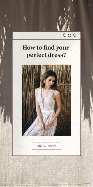 Wedding Dresses Ad with Beautiful Bride Graphicデザインテンプレート