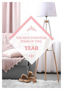Furniture showroom advertisement with Cozy Sofa