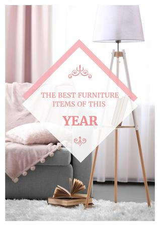Plantilla de diseño de Furniture showroom advertisement with Cozy Sofa Poster