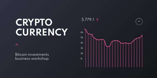 Cryptocurrency trading chart Twitter Design Template