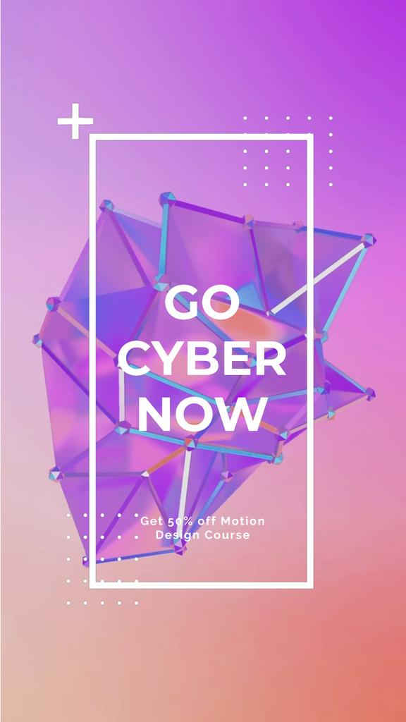 Cyber Monday Sale Digital Shape in Purple — Создать дизайн