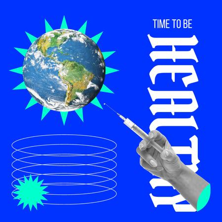 Bright Illustration of Prick the Planet Instagram – шаблон для дизайну