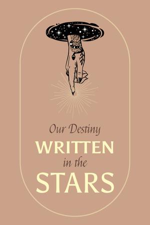 Astrology Inspiration with Cute Stars Pinterest Design Template