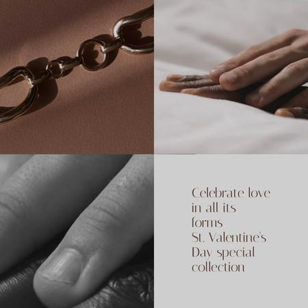 Plantilla de diseño de Valentine's Jewellery Offer with necklace Animated Post