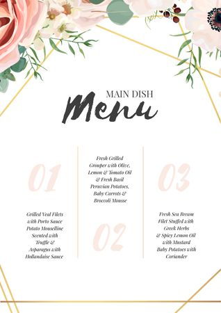 Restaurant Main Dish list Menu Modelo de Design