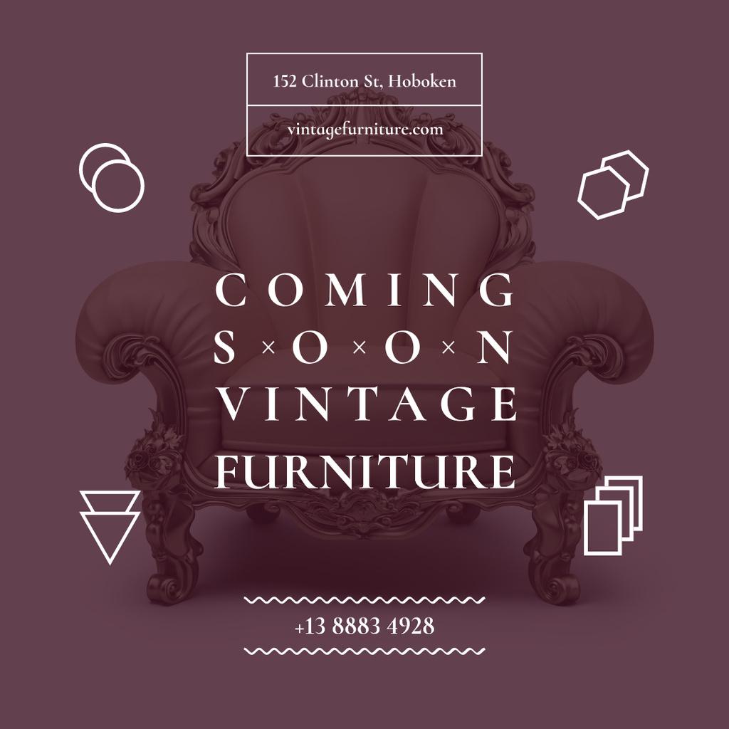Antique Furniture Ad Luxury Armchair — Crear un diseño
