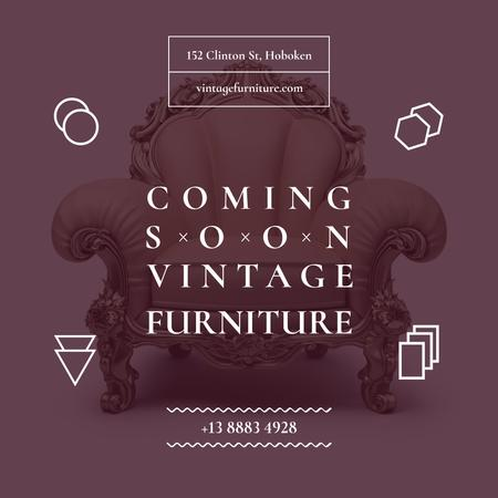 Ontwerpsjabloon van Instagram AD van Antique Furniture Ad Luxury Armchair