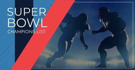Modèle de visuel Super Bowl Players Silhouettes - Facebook AD