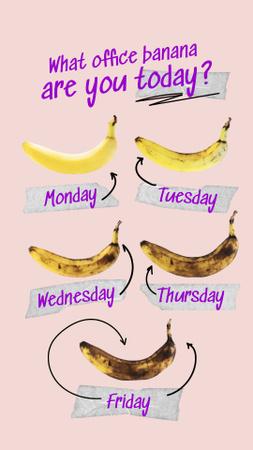 Funny Joke with Fresh and Rotten Bananas Instagram Story Modelo de Design