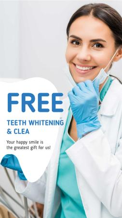 Dentistry Promotion with Smiling Woman Dentist Instagram Story – шаблон для дизайна