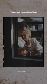 Couple with Coffee hugging on Valentine's Day