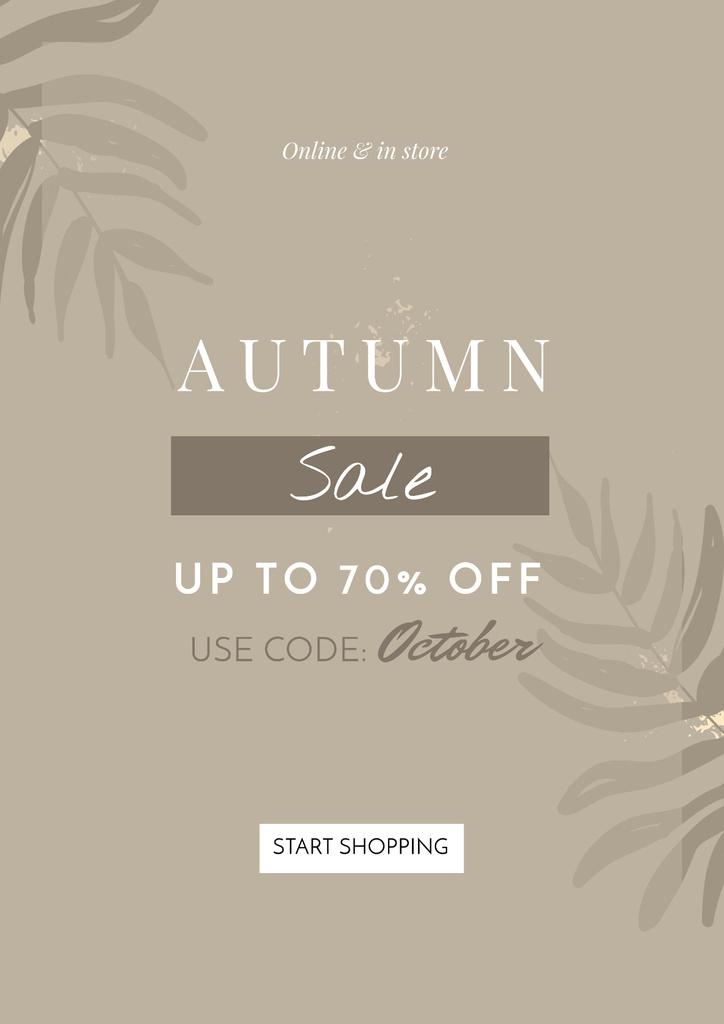 Autumn Sale announcement on Leaves — Crear un diseño