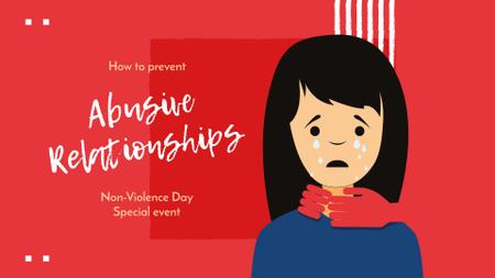 Non-Violence Day Special Event Announcement FB event cover Modelo de Design