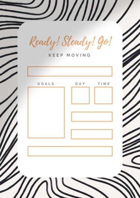 Day Goals Planning with Motivational Phrase Schedule Planner – шаблон для дизайна