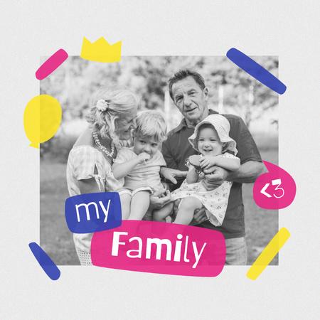 Happy Grandparents with their Grandchildren Instagram – шаблон для дизайна