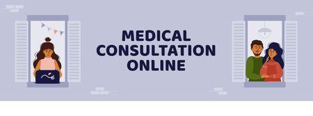 Ontwerpsjabloon van Facebook cover van Online Medical Support
