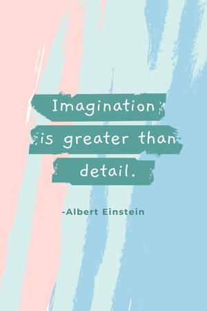 Imagination Quote on Glitter Pinterest Design Template