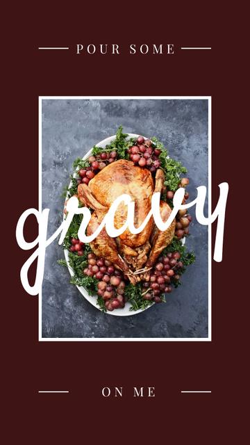 Thanksgiving Dinner Tradition Roasted Turkey Instagram Story Tasarım Şablonu