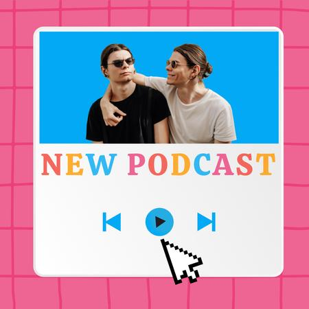 New Podcast Topic Announcement with Funny Stylish Men Instagram – шаблон для дизайну