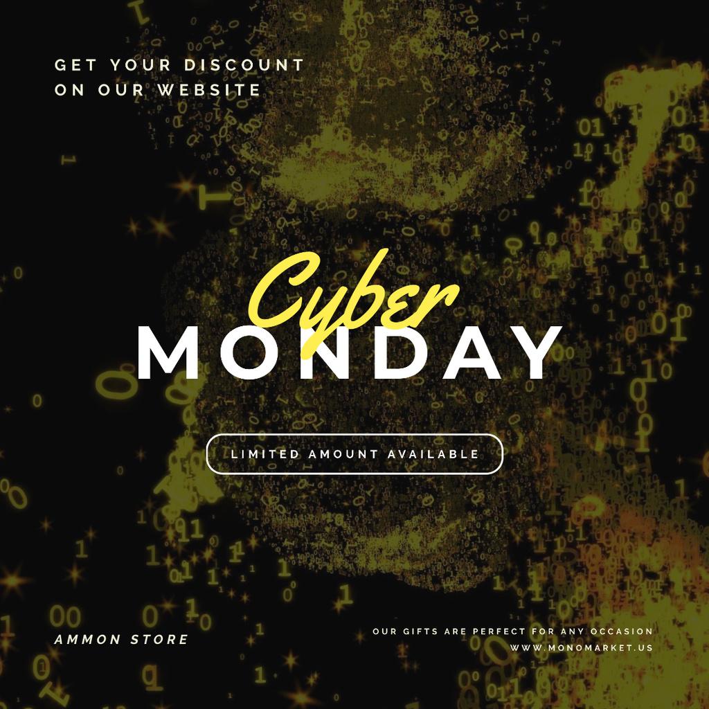 Cyber Monday on Flowing binary digits — Crear un diseño