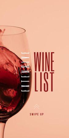 Ontwerpsjabloon van Graphic van Splash of Wine in Glass