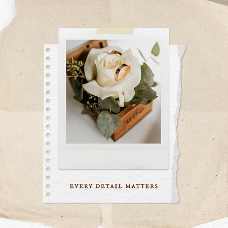 Wedding Celebration with Cute Wooden Box with Flower Instagram Modelo de Design
