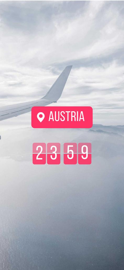 Plane between Clouds in Sky Snapchat Moment Filter – шаблон для дизайну